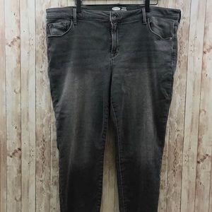 Old Navy Built In Warm Black Skinny Jeans